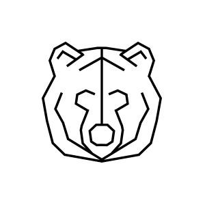 bear, logo, geometric, grizzly, head, forest, animal, nature,