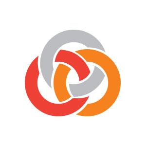 Circle knot intertwined abstract logo vector