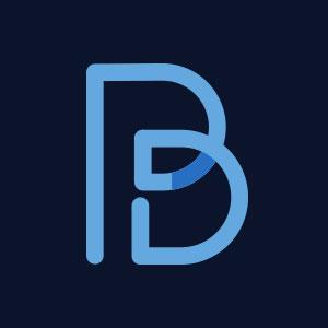 Letter B line geometric logo vector