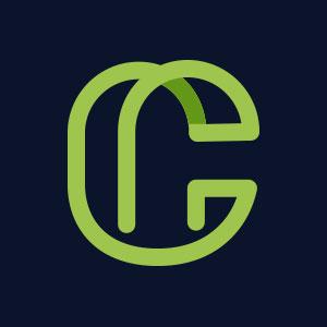 Letter C line geometric logo vector