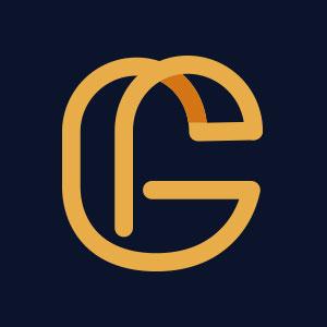 Letter G geometric line logo vector