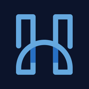 Letter H geometric line logo vector