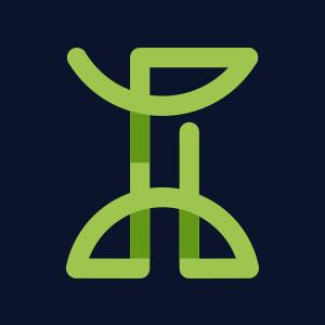 Letter I geometric line logo vector