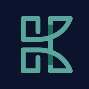 Letter K geometric line logo vector