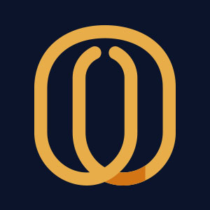 Letter O geometric line logo vector