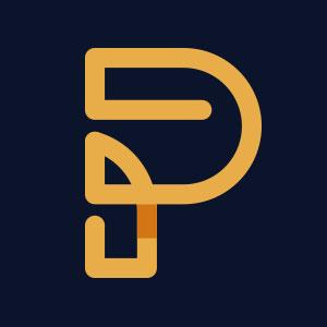 P Letter Images.Letter P Geometric Line Logo Vector