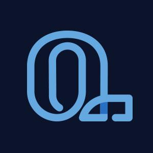 Letter Q geometric line logo vector