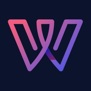 Letter W geometric line logo vector