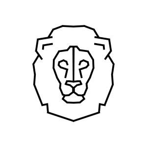 lion, geometric, logo, roar, king, africa, nature, animal,