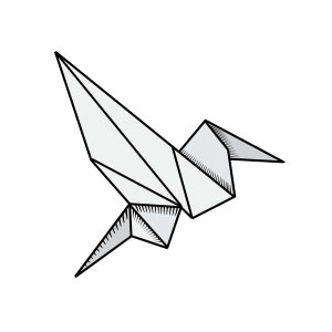 origami, bird, paper, fold, animal, fly, sing, freedom, creativity, geometric,