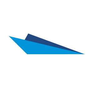 Paper plane origami abstract logo