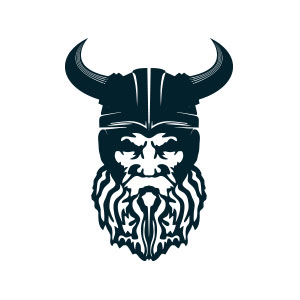 viking, warrior, helmet, head, valhalla, soldier, logo,