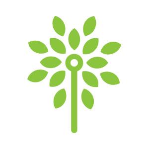 abstract green tree circuit logo vector