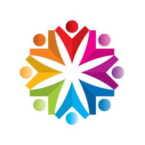 abstract people circle logo