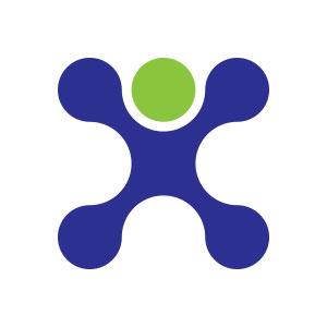circle human man abstract logo vector
