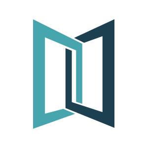 door window logo abstract vector