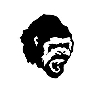 gorilla, logo, forest, jungle, roar, scream, monkey, ape, danger,