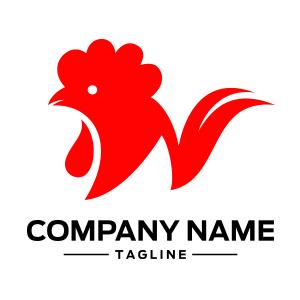 rooster chicken head logo
