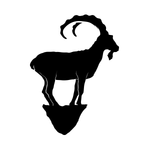 Mountain goat standing logo