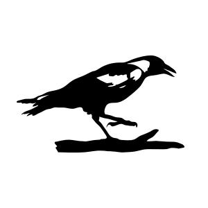 Raven standing logo vector