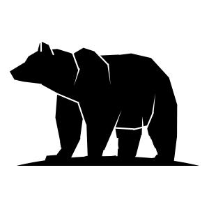 Bear geometric silhouette logo