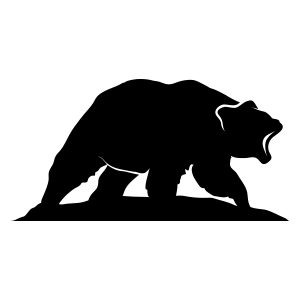 Bear grizzly roaring logo