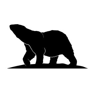 Polar bear silhouette logo